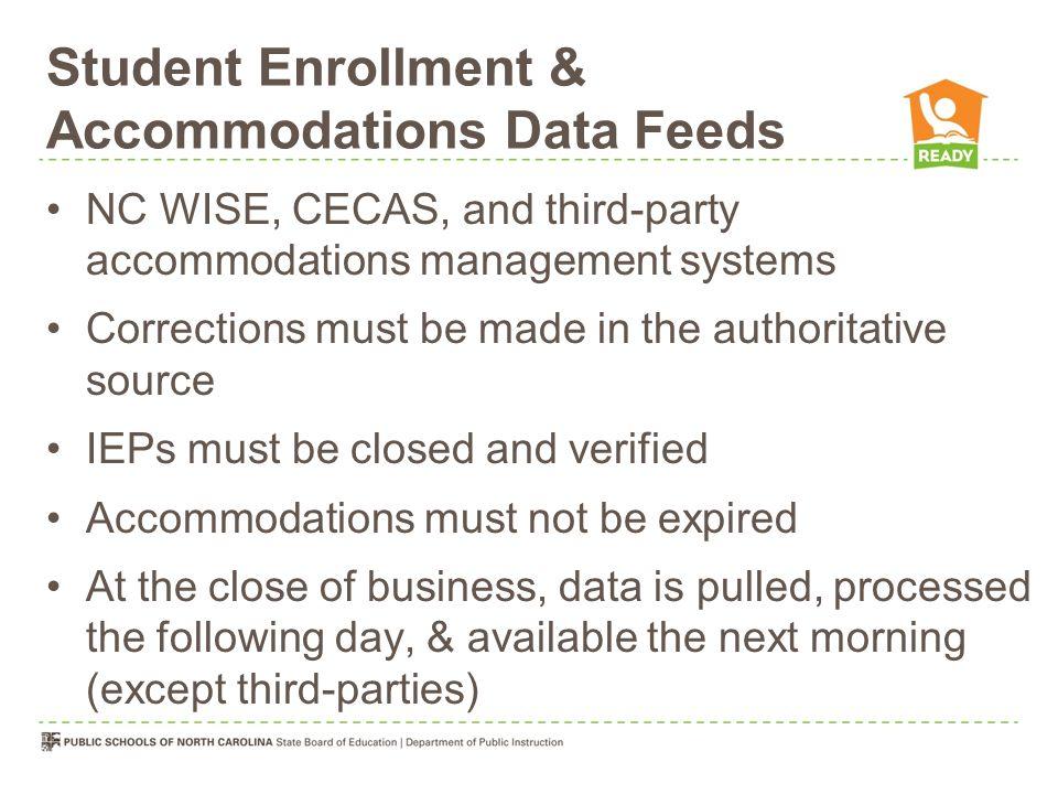 Student Enrollment & Accommodations Data Feeds