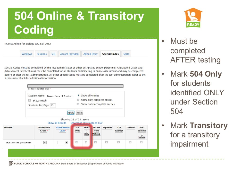 504 Online & Transitory Coding