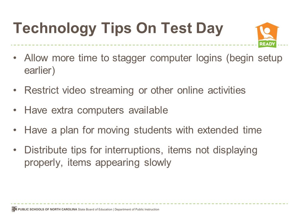Technology Tips On Test Day