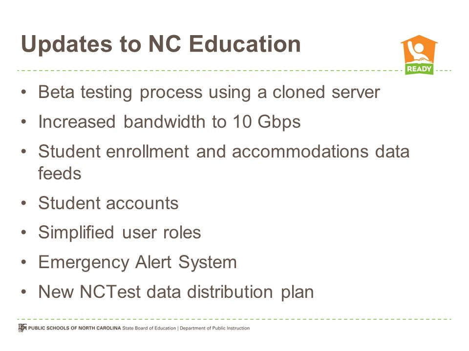 Updates to NC Education