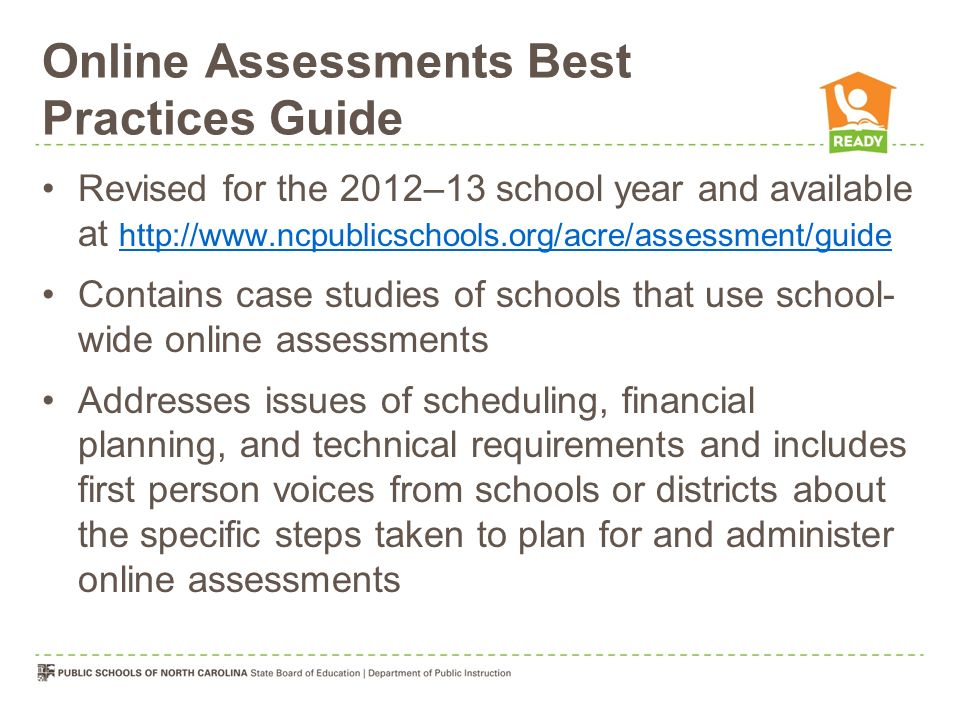 Online Assessments Best Practices Guide
