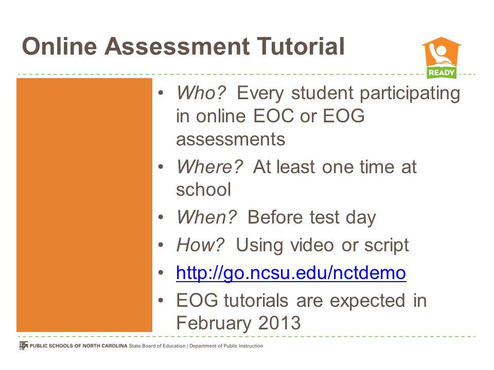 Online Assessment Tutorial