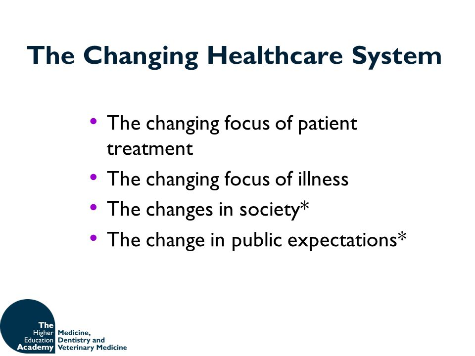 The Changing Healthcare System