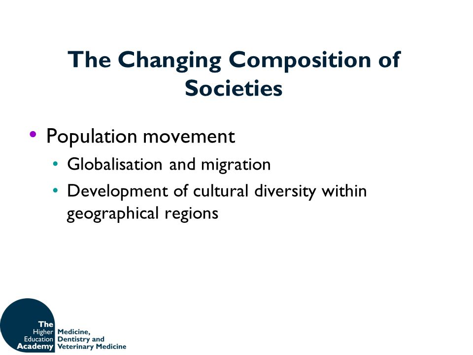 The Changing Composition of Societies