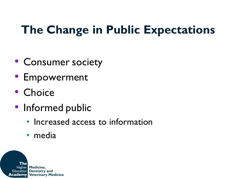The Change in Public Expectations