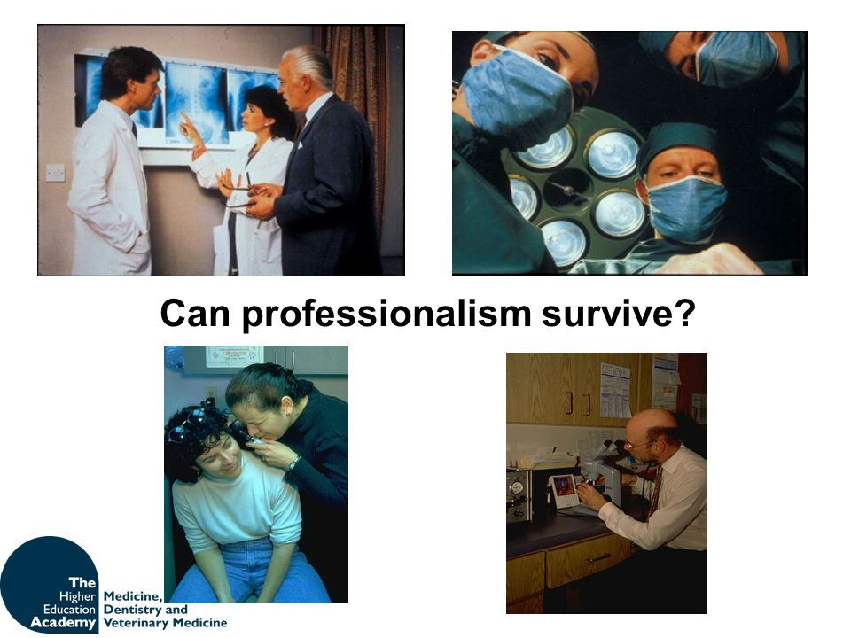Can professionalism survive
