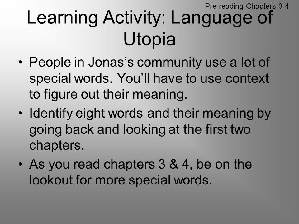 Learning Activity: Language of Utopia