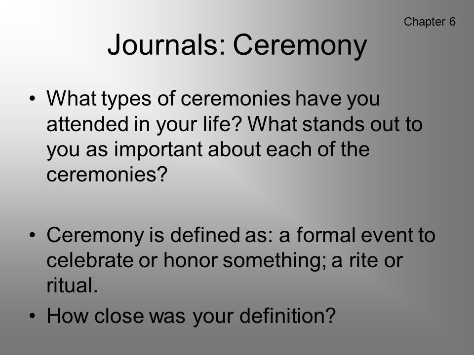 Journals: Ceremony Chapter 6.