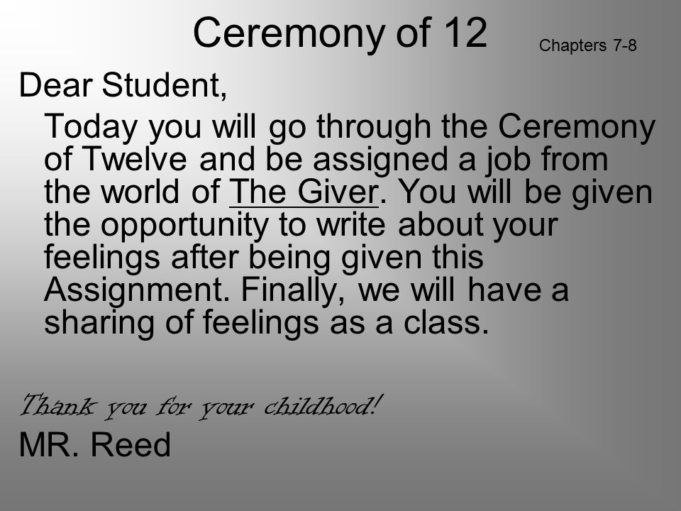 Ceremony of 12 Chapters 7-8.