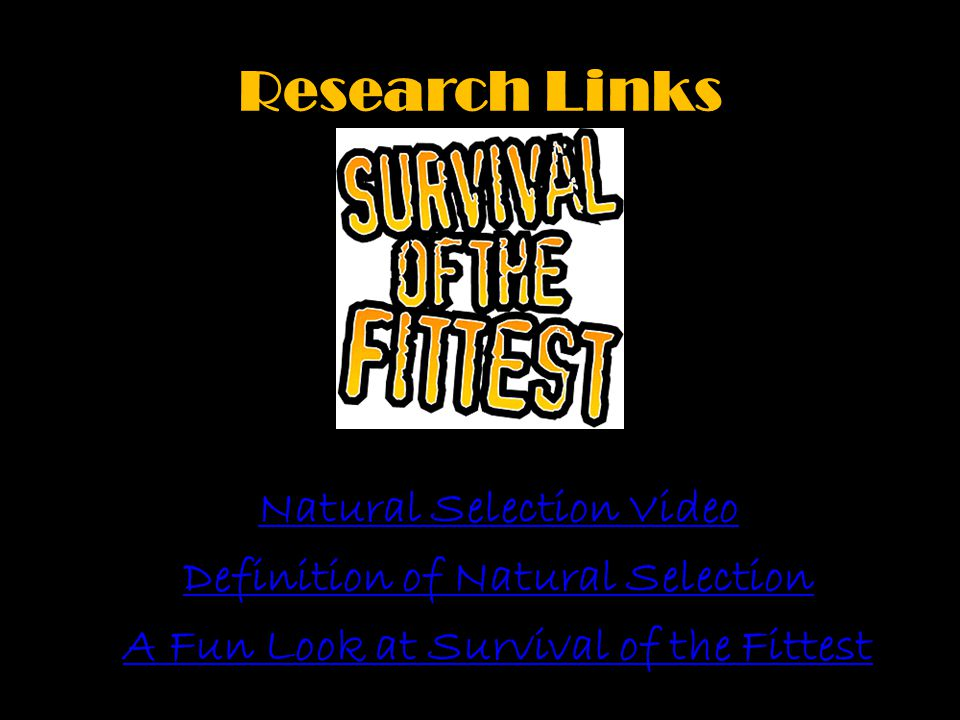 Research Links Natural Selection Video Definition of Natural Selection