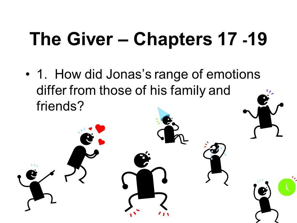 The Giver – Chapters 17 -19 1.