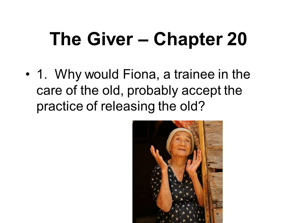 The Giver – Chapter 20 1.