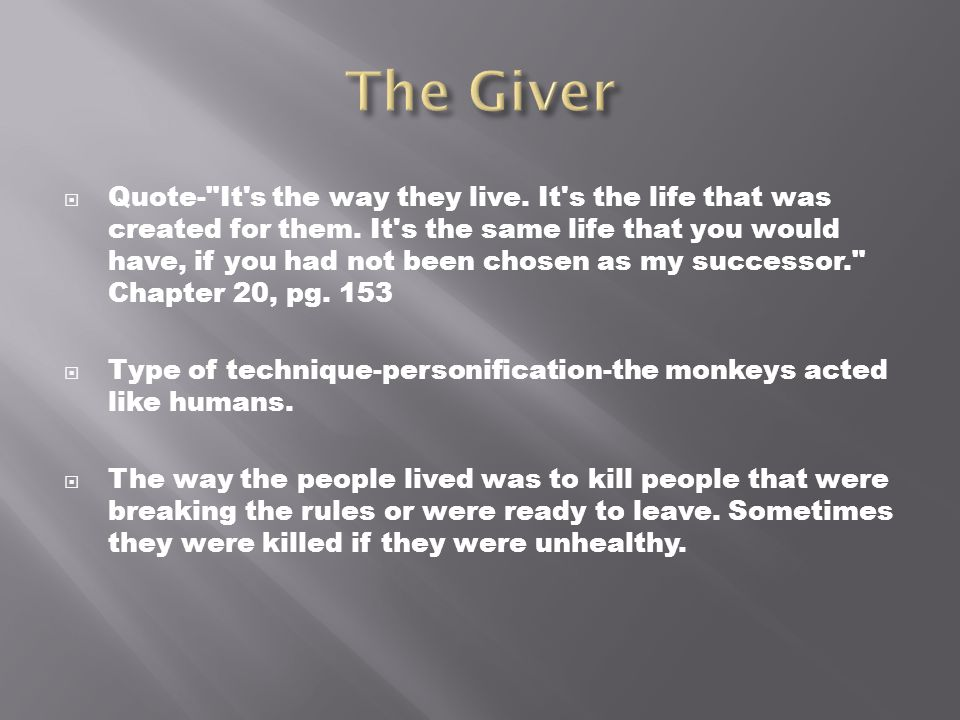 The Giver Book Quotes Amusing The Giver Literary Techniques  Ppt Download