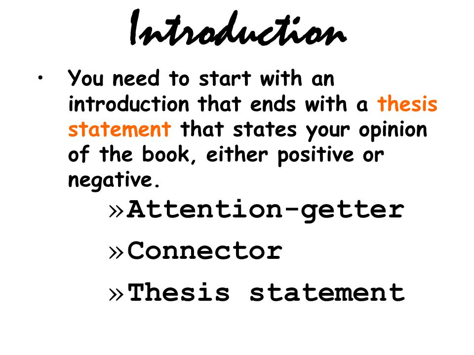 thesis introduction