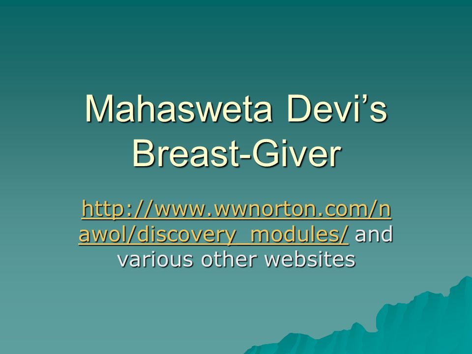 Mahasweta Devi's Breast-Giver