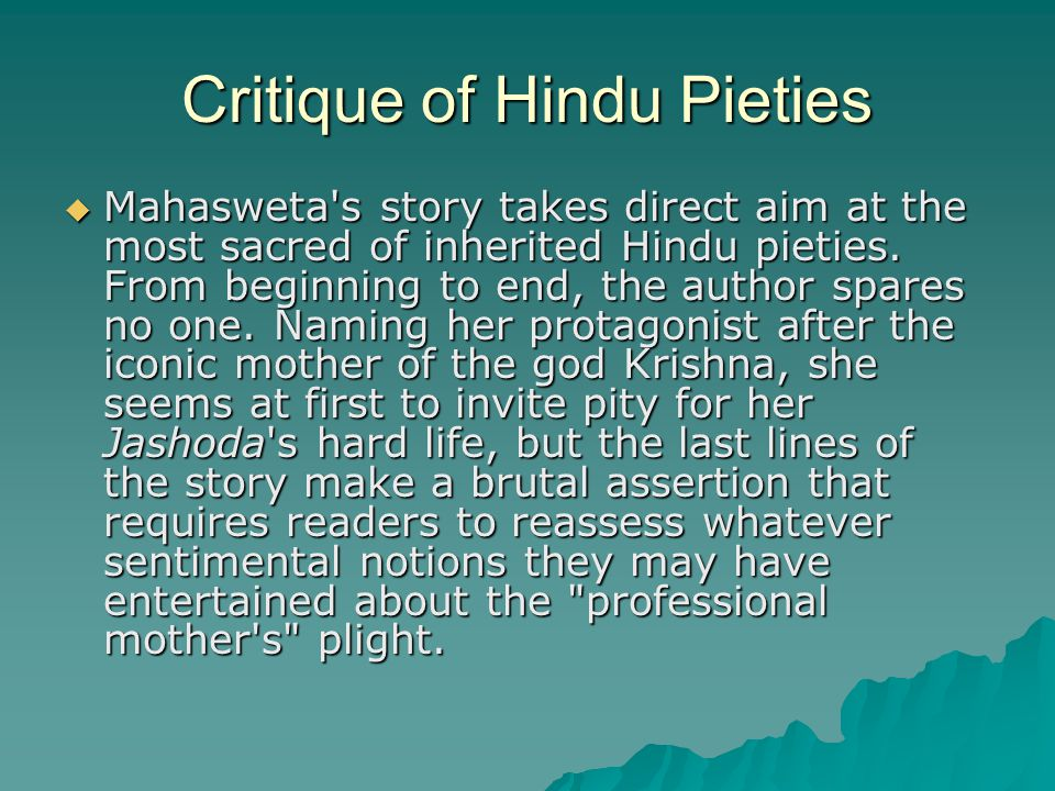 Critique of Hindu Pieties