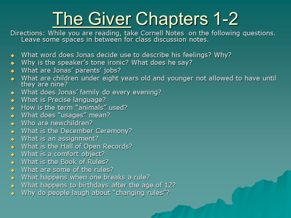 what is the setting of the giver by lois lowry