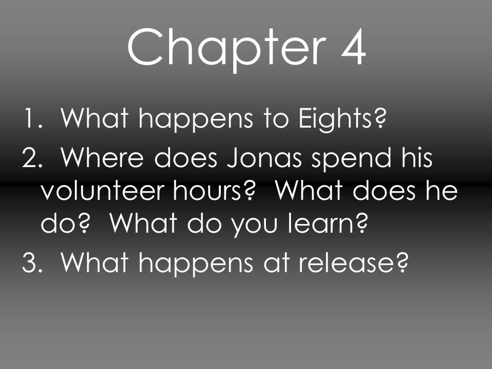 Chapter 4 1. What happens to Eights