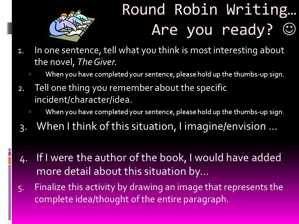 Round Robin Writing… Are you ready 