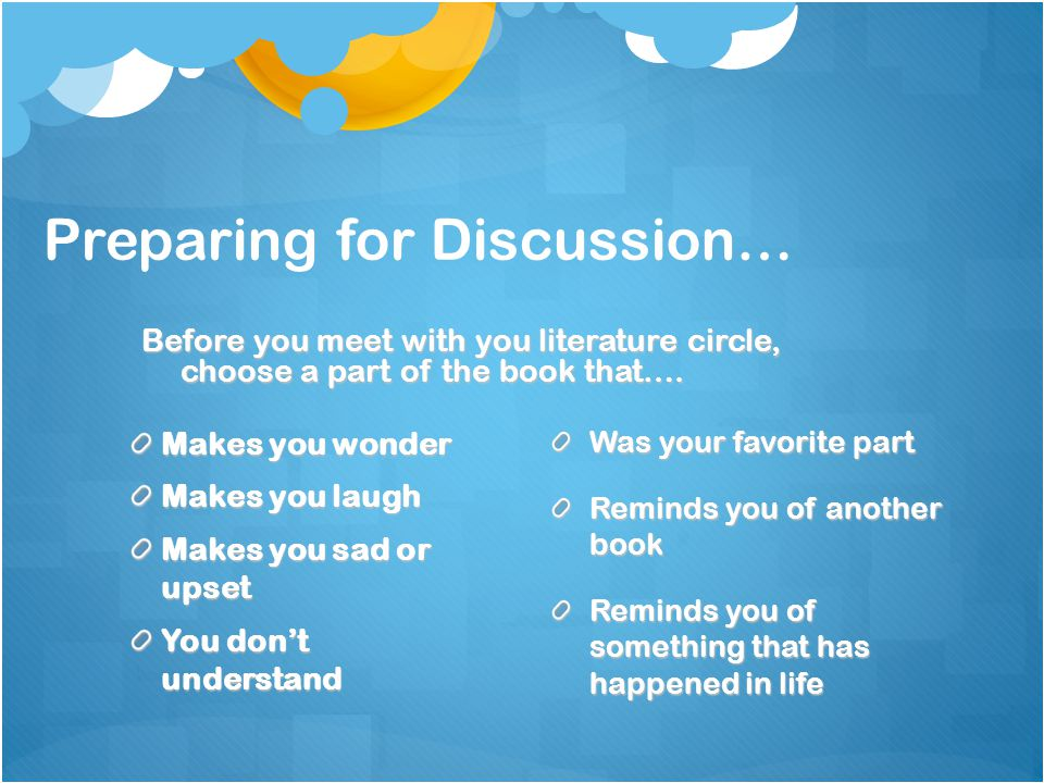 Preparing for Discussion…