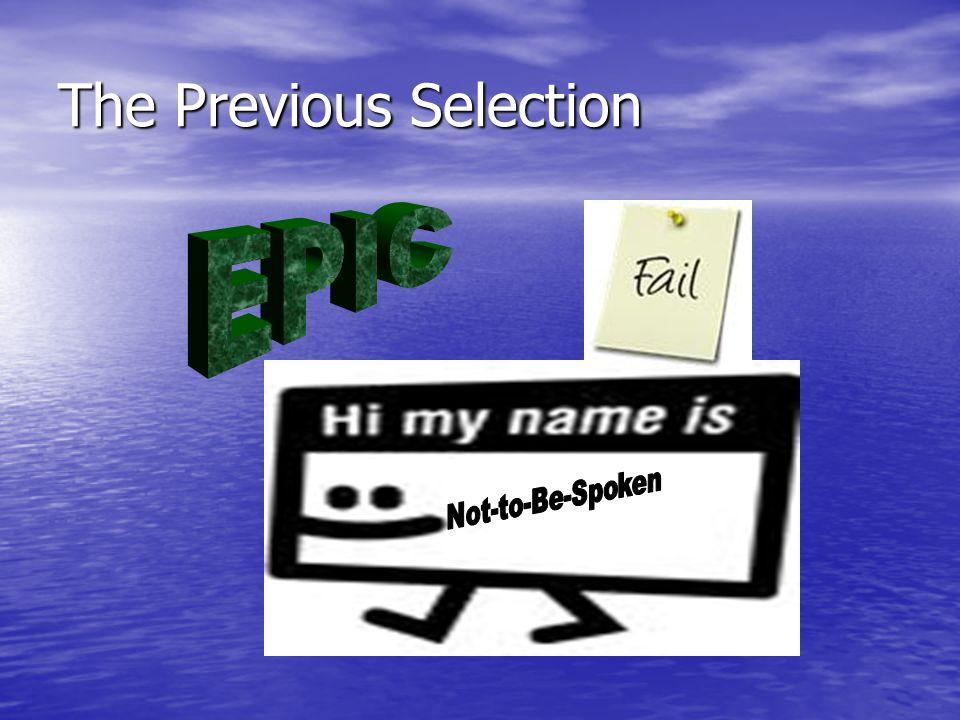The Previous Selection