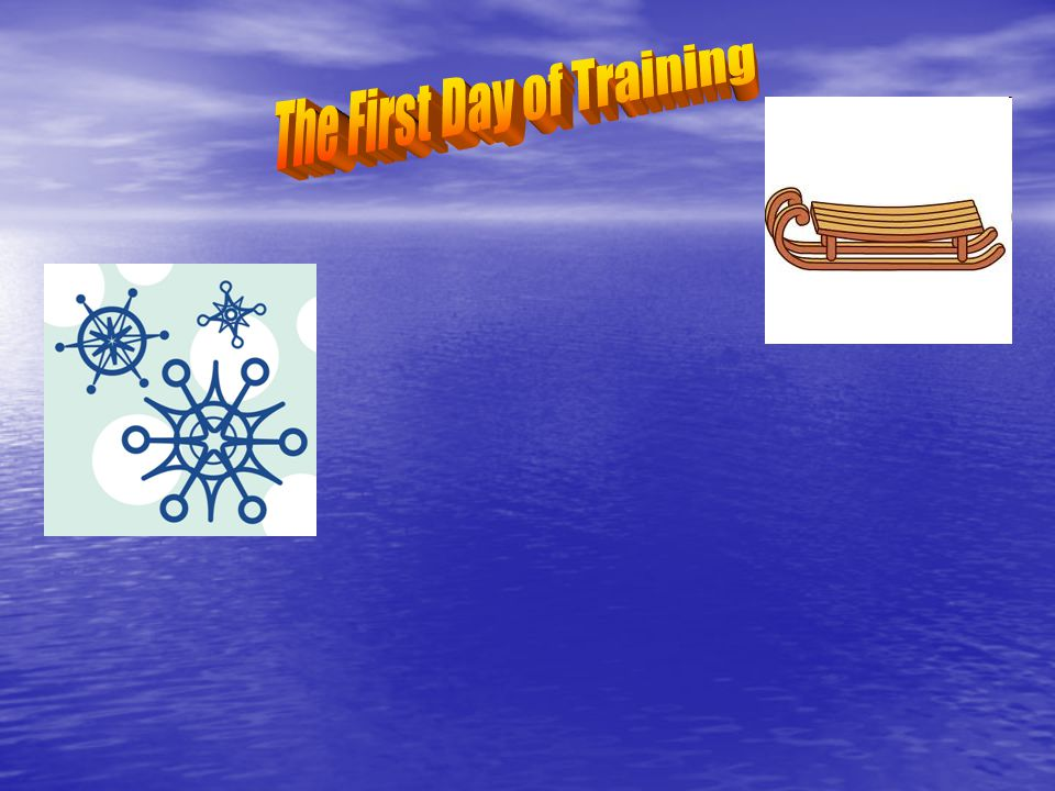 The First Day of Training