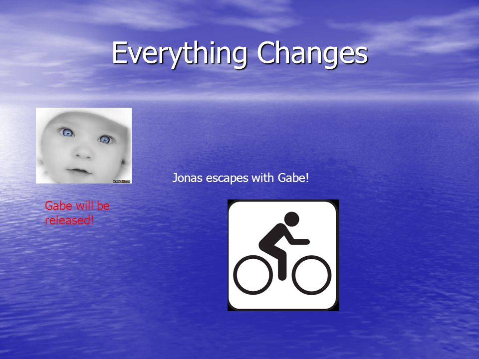 Everything Changes Jonas escapes with Gabe! Gabe will be released!