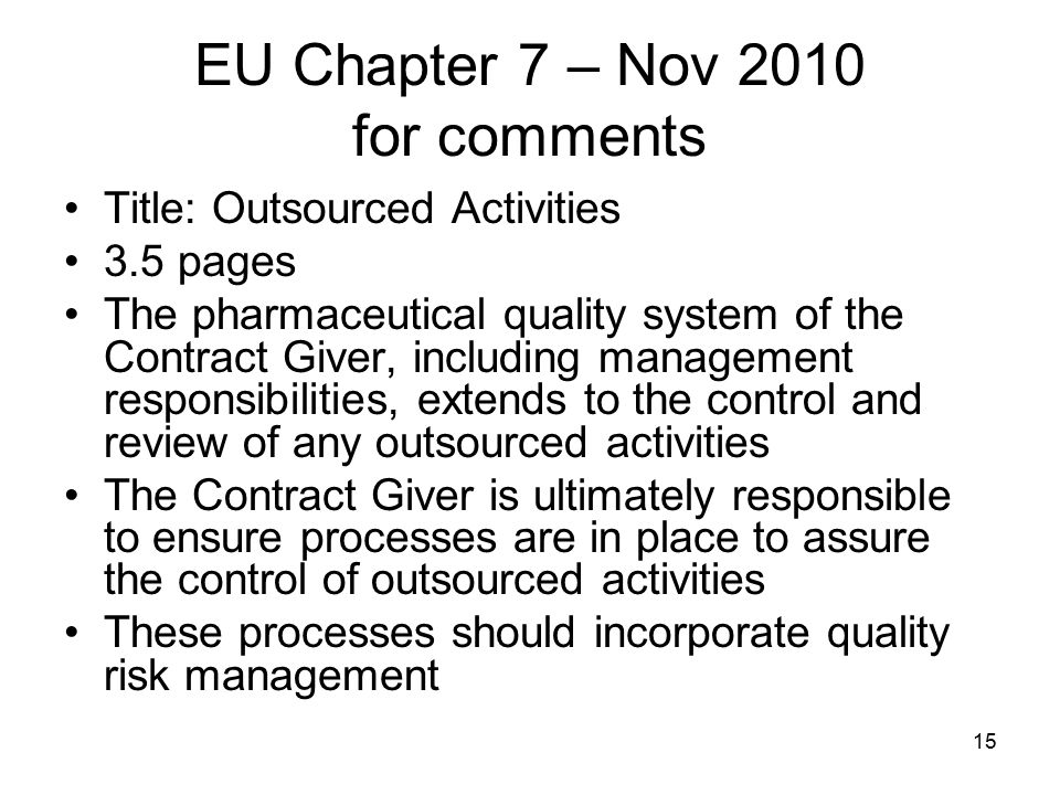 EU Chapter 7 – Nov 2010 for comments
