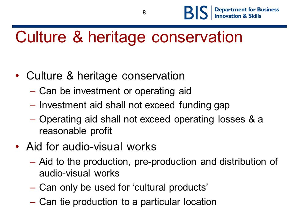 Culture & heritage conservation