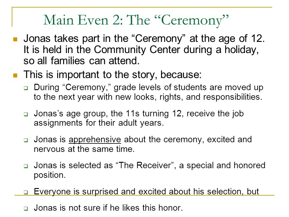 Main Even 2: The Ceremony