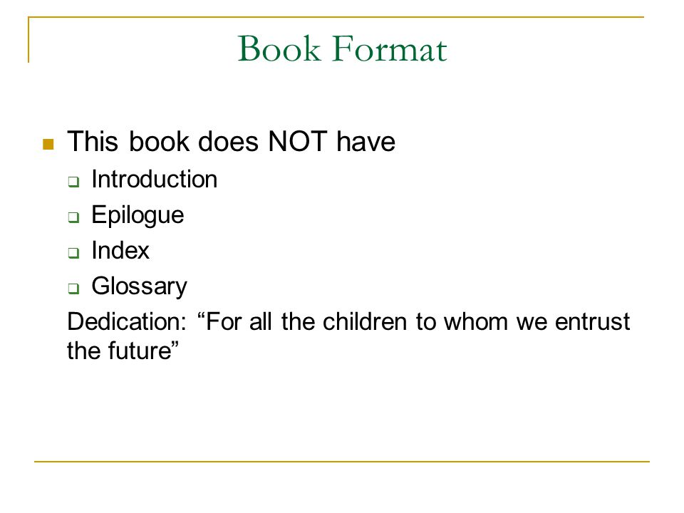 Book Format This book does NOT have Introduction Epilogue Index