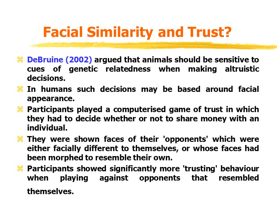 Facial Similarity and Trust