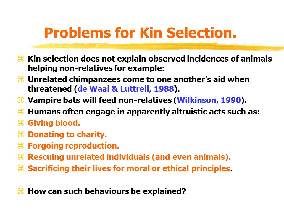 Problems for Kin Selection.