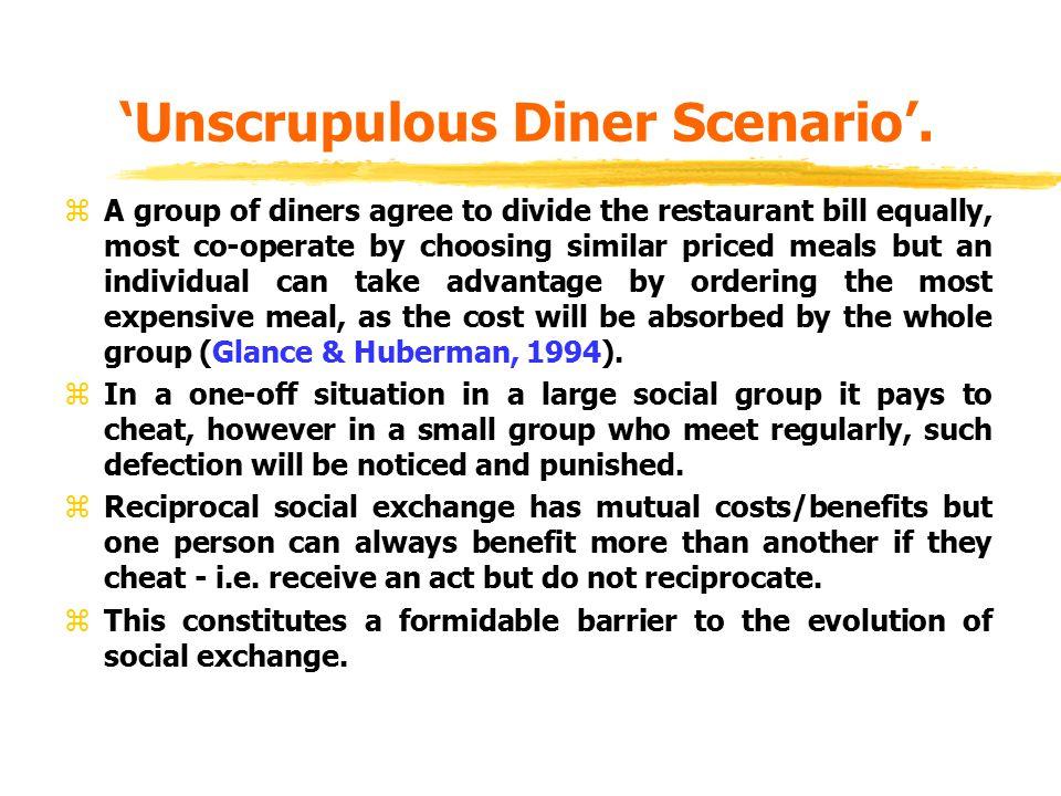 'Unscrupulous Diner Scenario'.