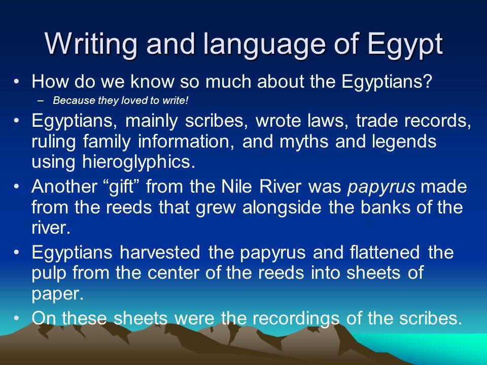 Writing and language of Egypt