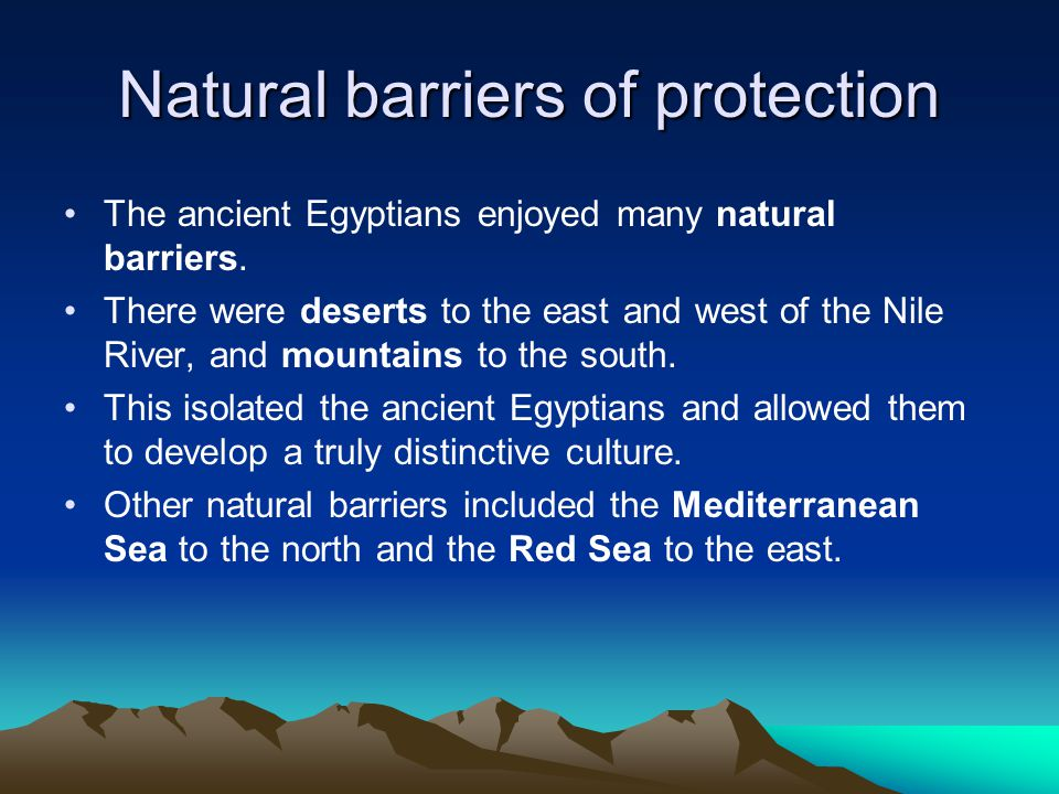 Natural barriers of protection