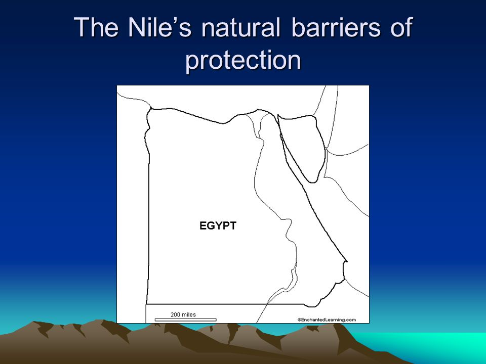 The Nile's natural barriers of protection
