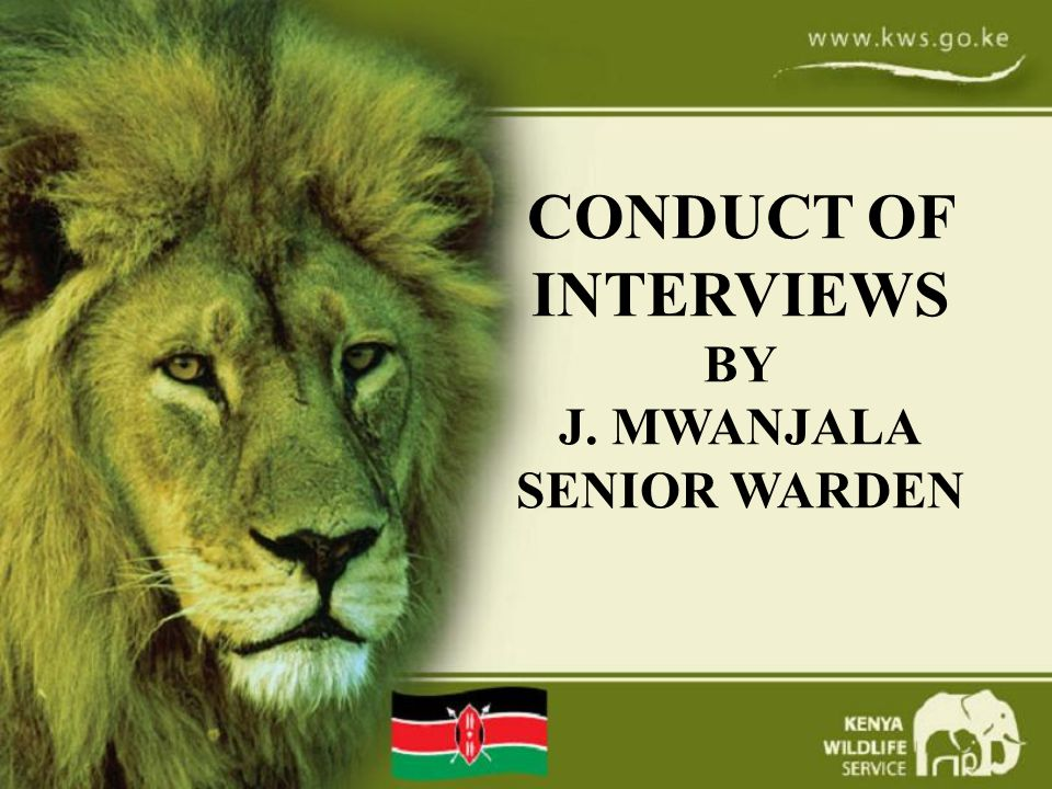 CONDUCT OF INTERVIEWS BY