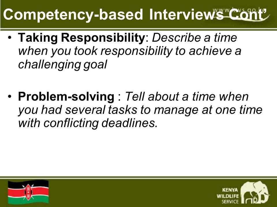 Competency-based Interviews Cont'