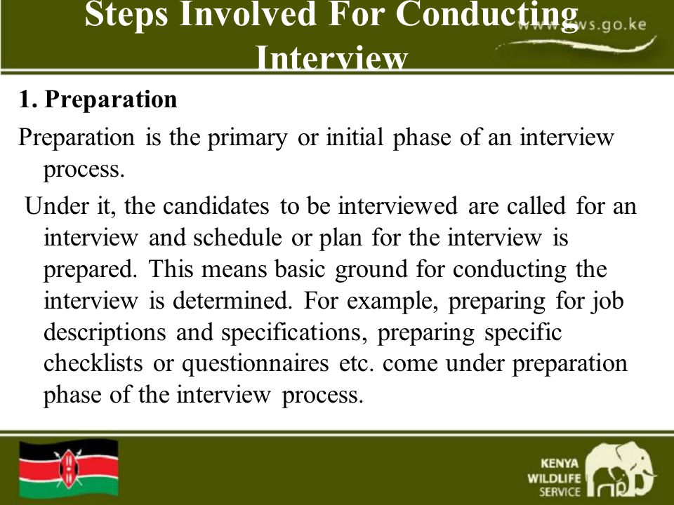 Steps Involved For Conducting Interview