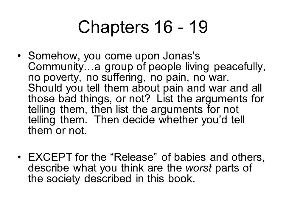 Chapters 16 - 19