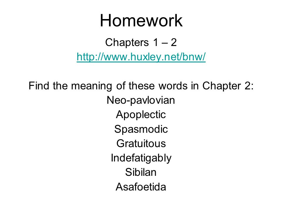Find the meaning of these words in Chapter 2: