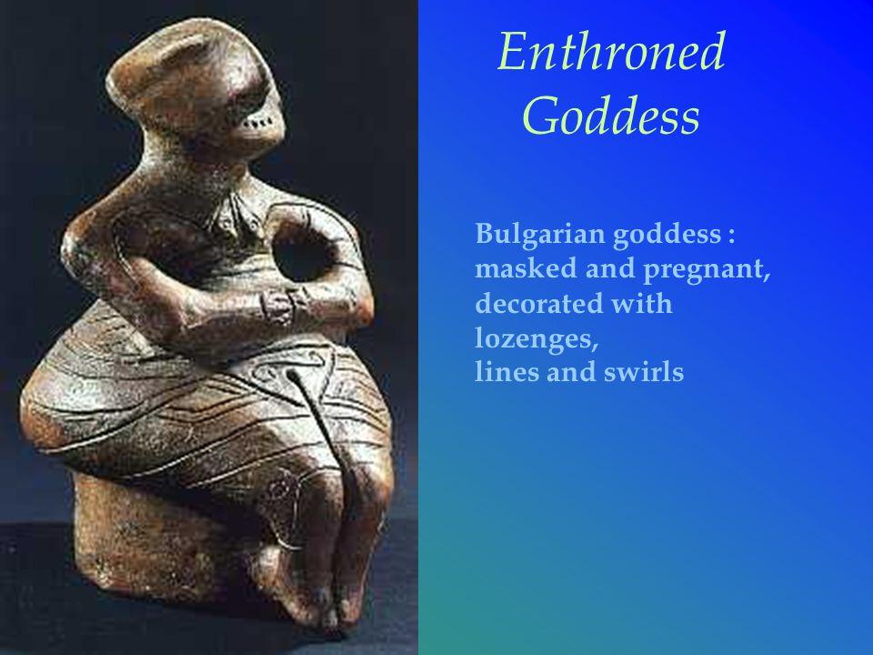 Enthroned Goddess Bulgarian goddess :