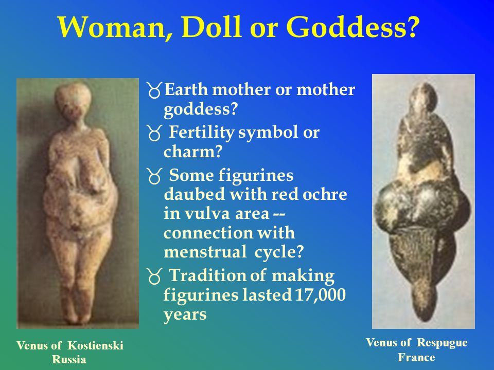 Venus of Respugue France Venus of Kostienski Russia