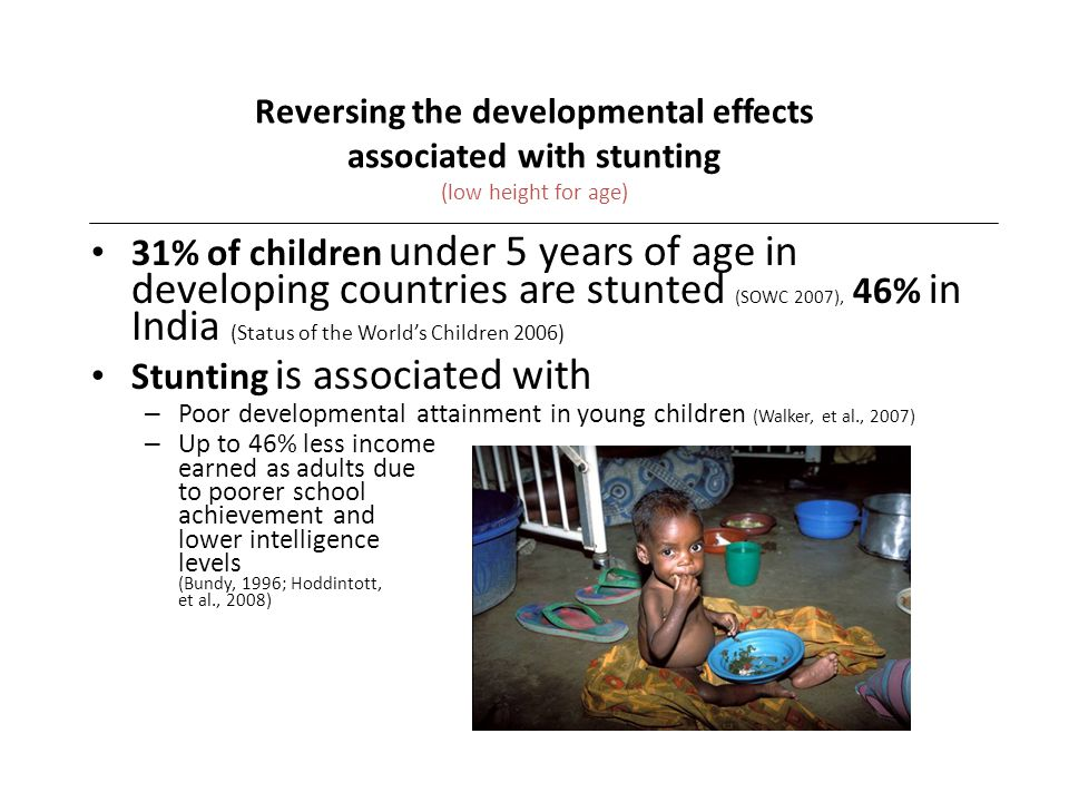 Stunting is associated with