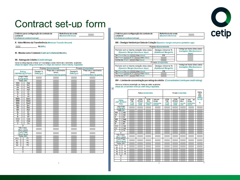 Contract set-up form