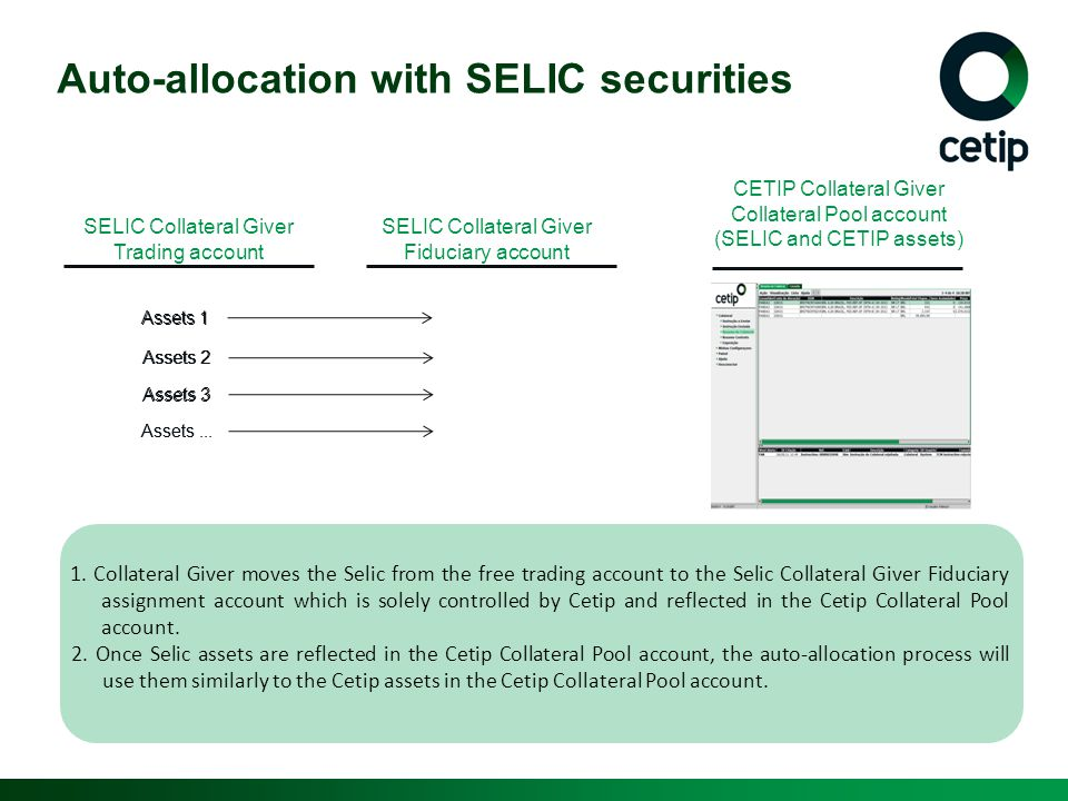 Auto-allocation with SELIC securities
