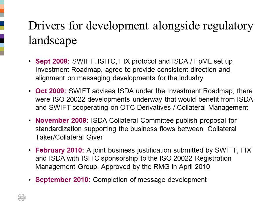 Drivers for development alongside regulatory landscape