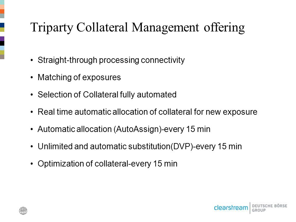 Triparty Collateral Management offering