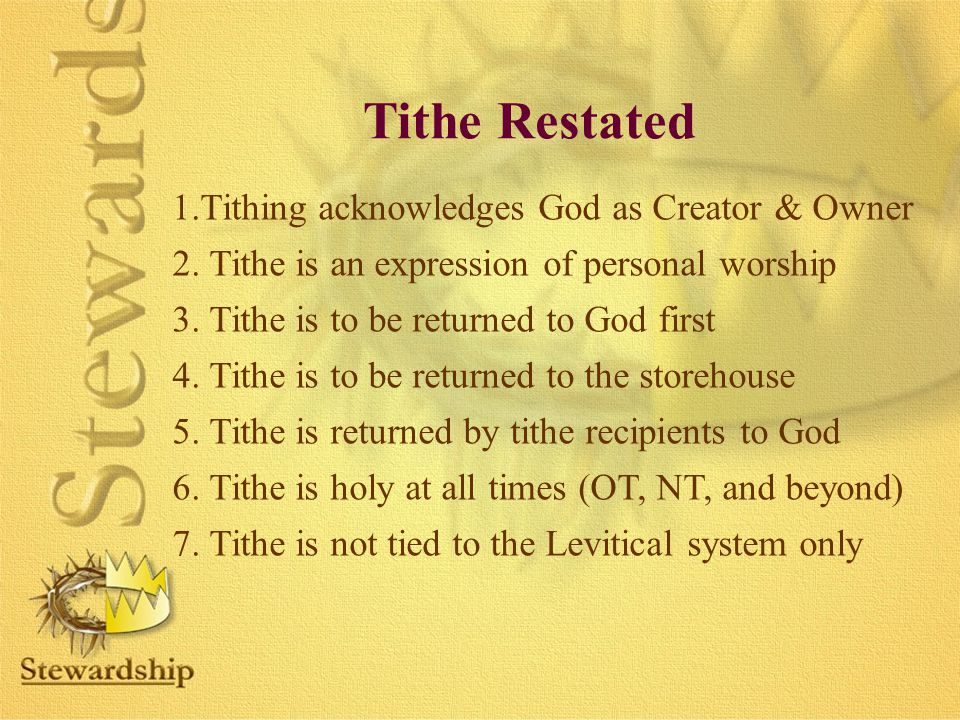 Tithe Restated